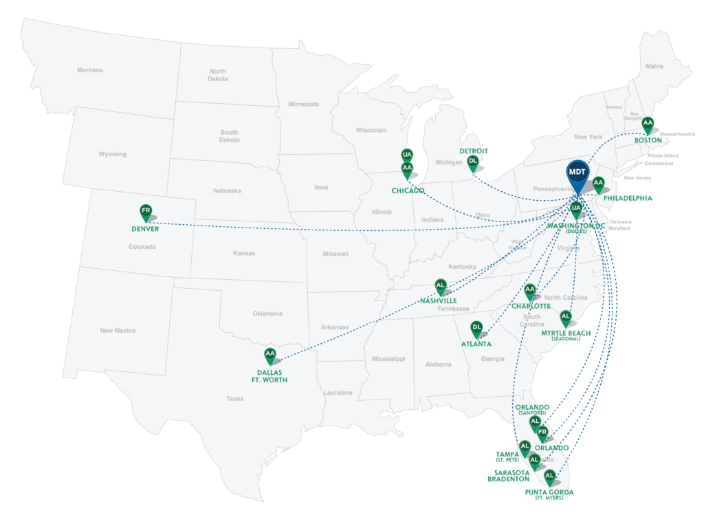 Delta Airlines Route Map on